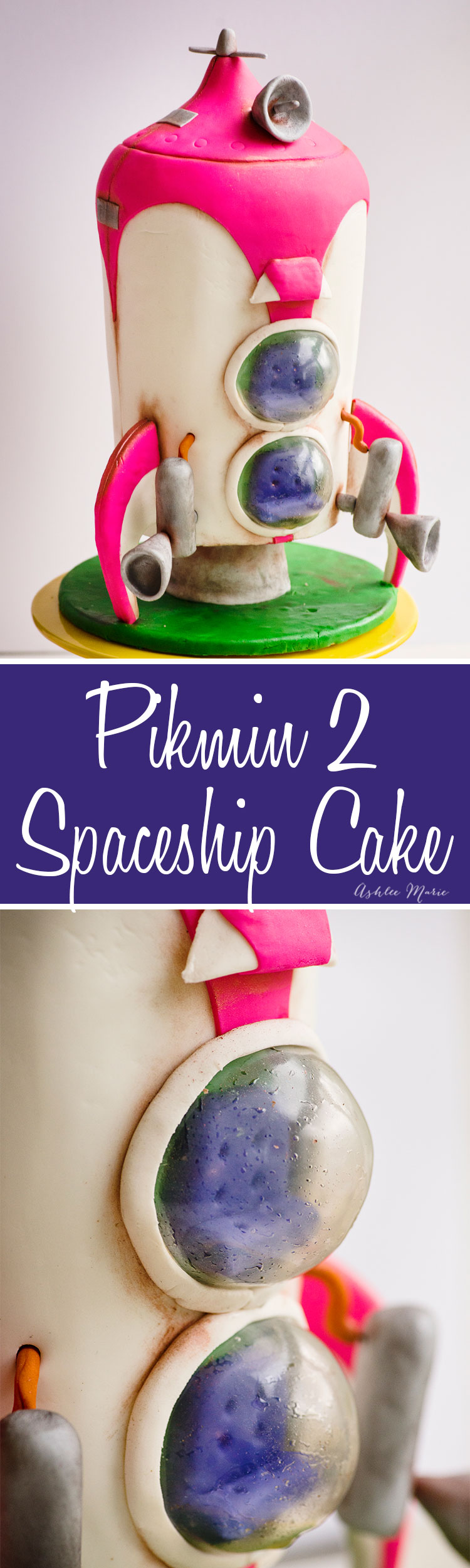this pikmin 2 spaceship cake was for my son's birthday party