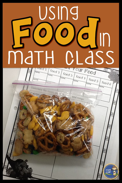 Using Food in Math Class, Fun with Food in Math, Fall Trail Mix