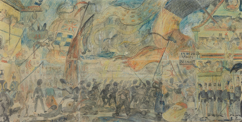James Ensor - The Strike (Massacre of the Ostend Fisherman). 1888