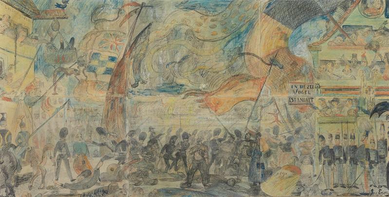 James Ensor - The Strike (Massacre of the Ostend Fisherman). 1888