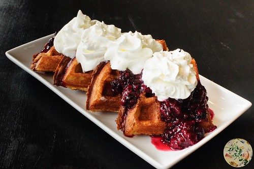 Mixed Berry Compote Waffles