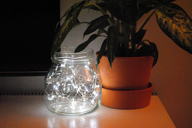 Wire lights in a jar