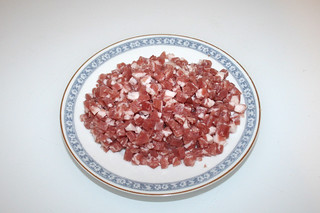 03 - Zutat Schinkenwürfel / Ingredient diced bacon