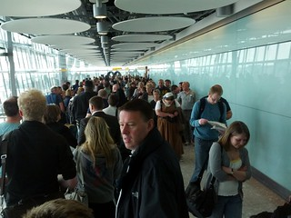 London Heathrow Terminal 5 customs queue, LHR5, London, UK | by gruntzooki