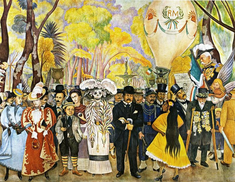 Diego Rivera - Sueño de una tarde dominical en la Alameda Central