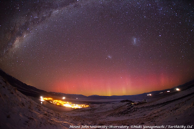 Aurora Lit Cauldron - the Mackenzie Basin