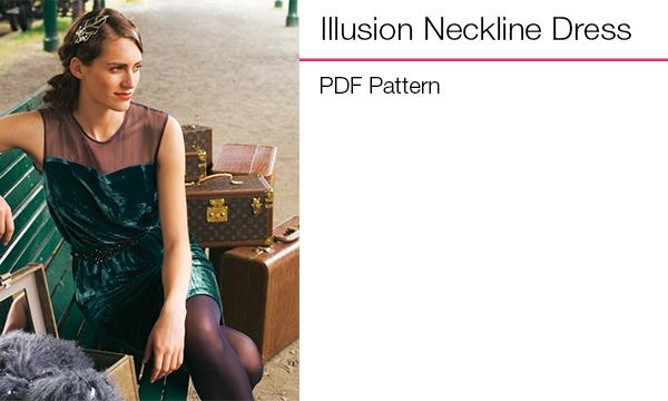 Illusion neckline dress