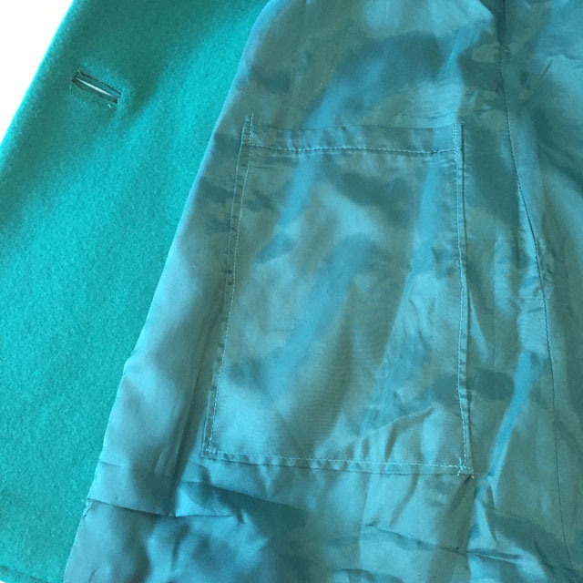 inside green coat pocket