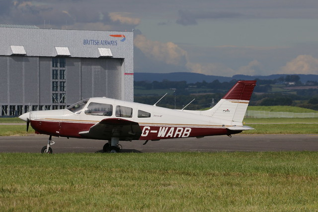 G-WARB parked.