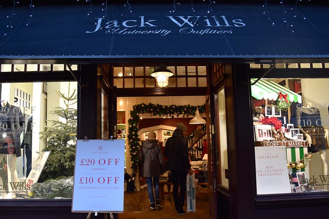 Jack Wills Christmas Windows 2016 in Canterbury | www.rachelphipps.com @rachelphipps