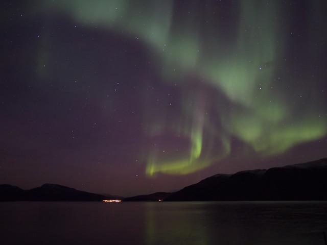 Aurora over Kaldfjorden