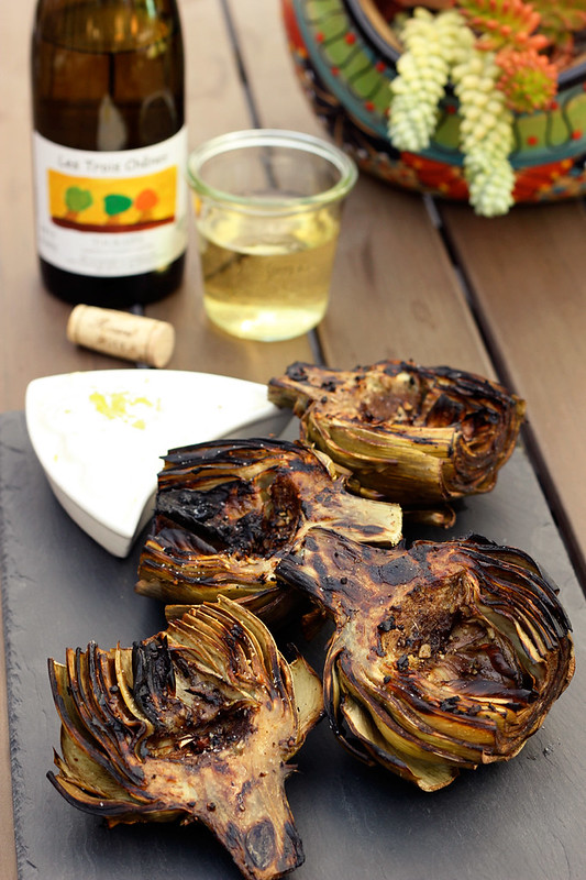 Grilled Marinated Artichokes with Wine Pairing from BestWinesOnline.com