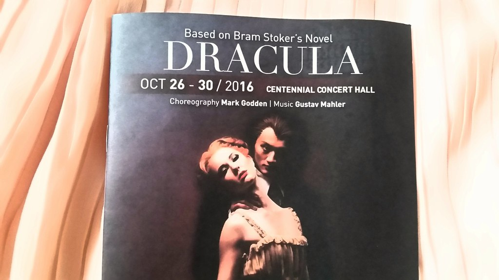Royal Winnipeg Ballet Dracula Program