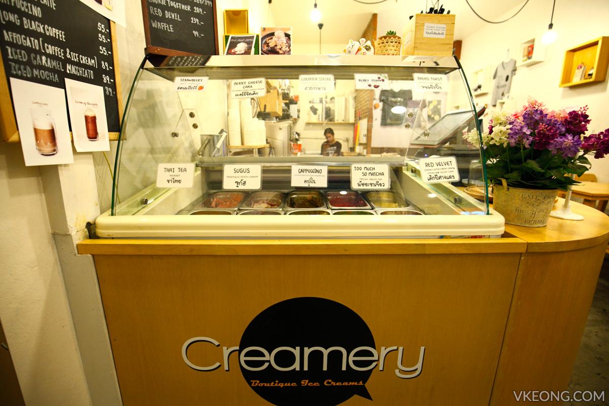 Creamery Boutique Ice Cream Counter Bangkok