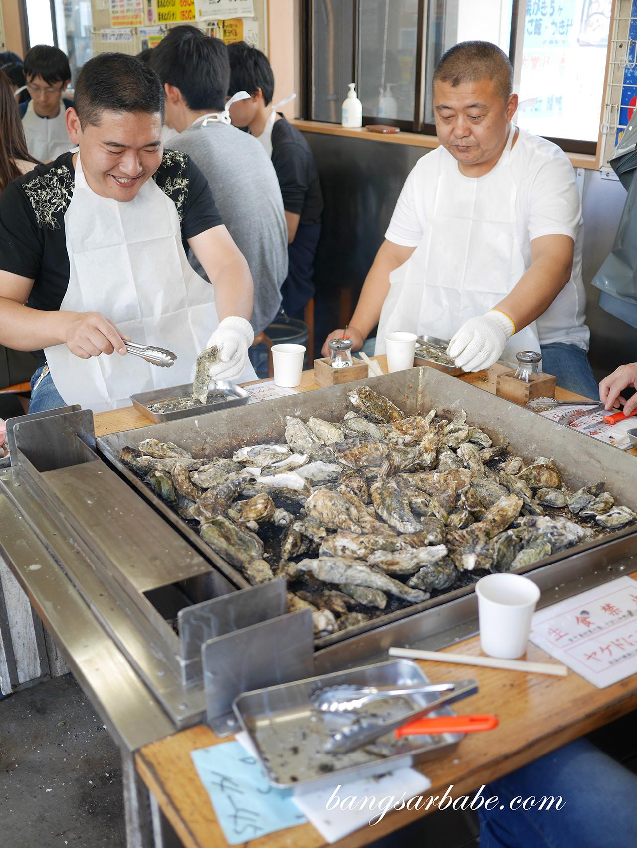 Oysters at Matsushima Kaigan Coast