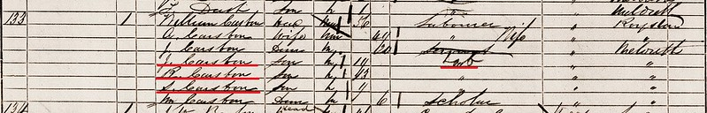 Samuel C Casban b1851 Meld 1861 census Croydon