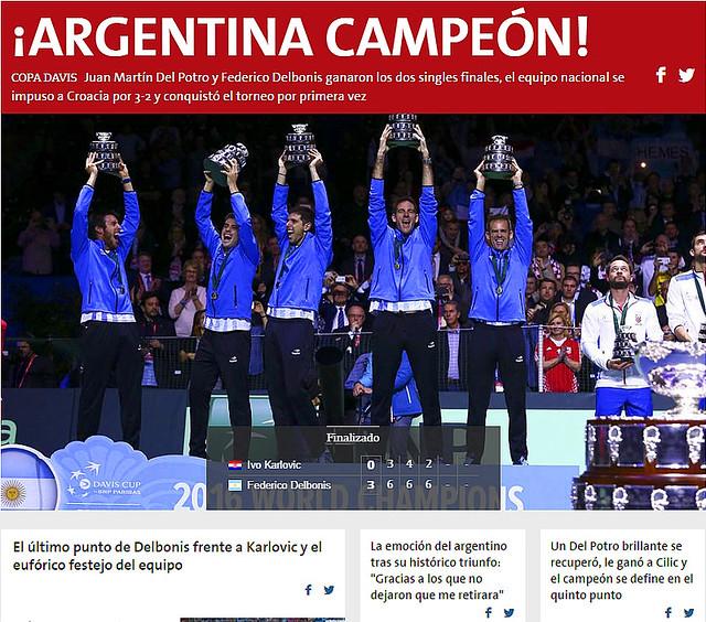 Argentina gana la Copa Davis 2016