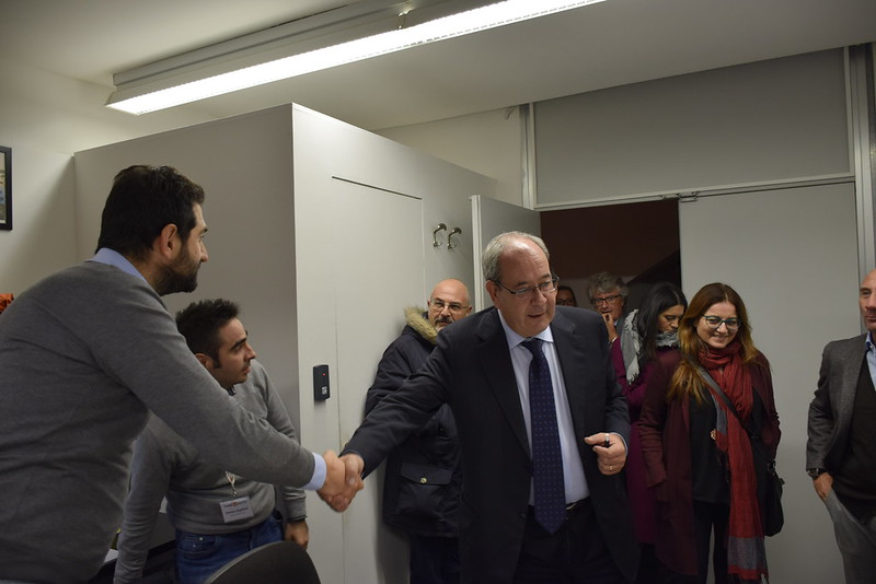 Antonello Giacomelli, Sottosegretario al Ministero dello Sviluppo Economico in visita a Città della Scienza