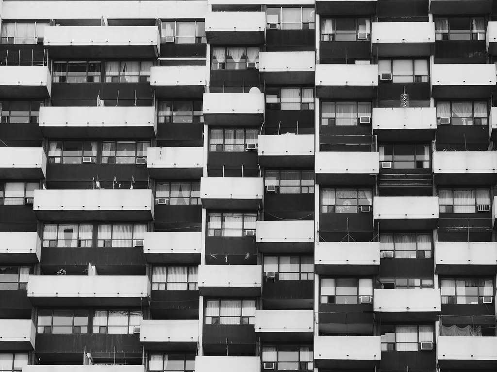 Checkered balconies