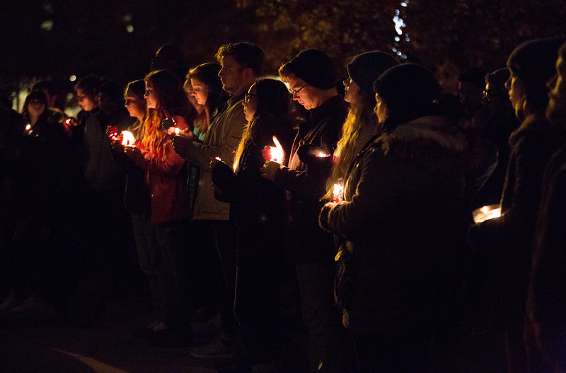 Student Vigil Following Election Results