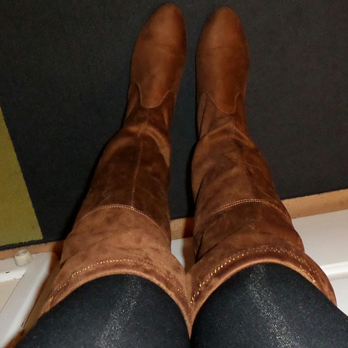 Primark tan faux suede over knee boots