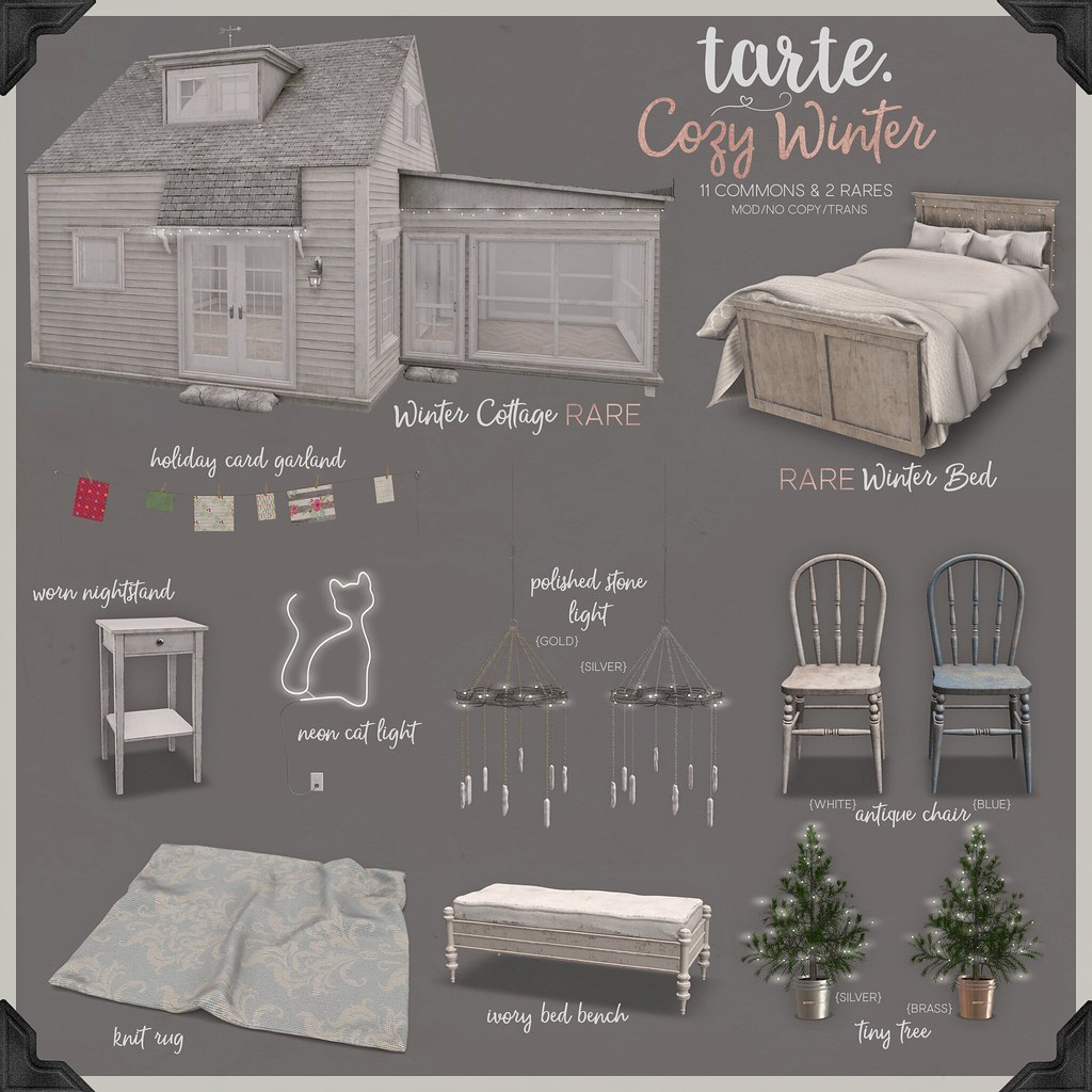 tarte. cozy winter arcade key