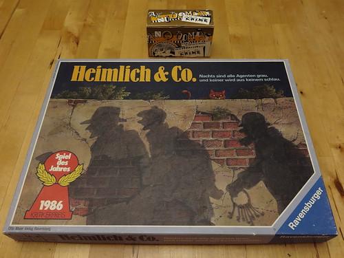 """Brettspiel """"Heimlich & Co"""" und Kartenspiel """"Anno Domini: Sex & Crime"""""""