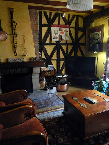 The comfy lounge in Casa Cayo in Potes, a town in the Picos de Europa in Spain