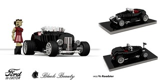 Ford 1932 Custom V8 Roadster - Black Beauty