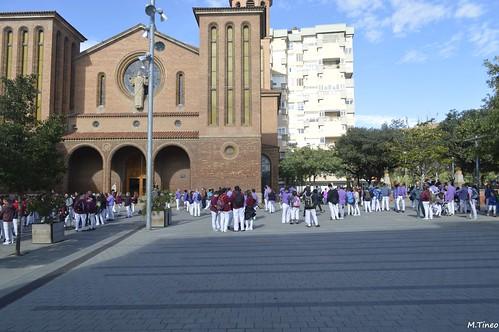 Diada Lila dels Castellers de Cornellà