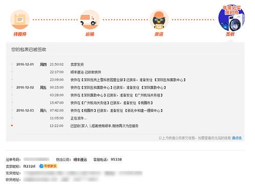 2012/12/01 順豐快遞物流