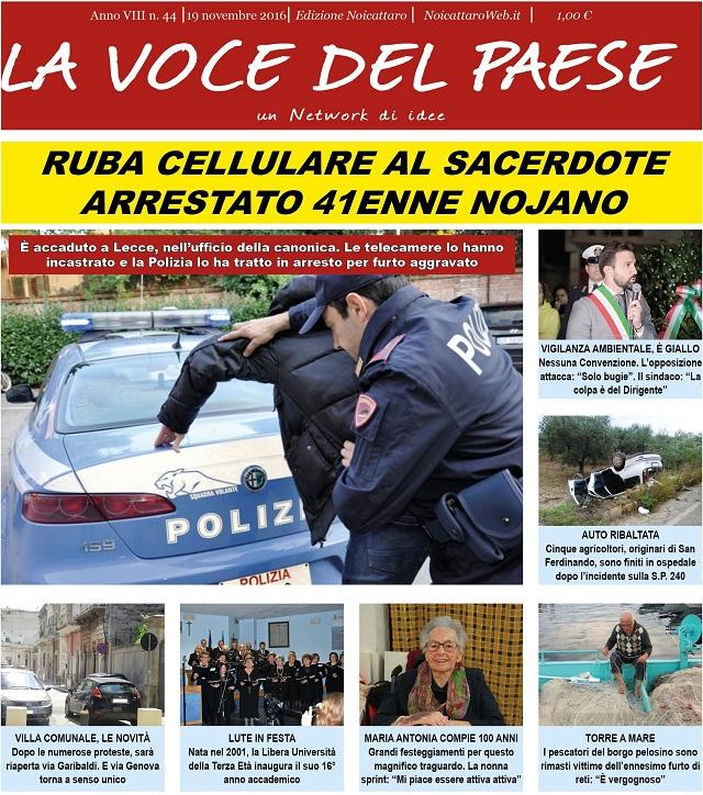 Noicattaro. Prima pagina n. 44-2016 intero