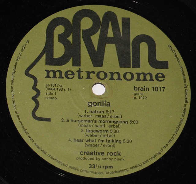 Creative Rock Gorilla KrautRock Brain Metronome