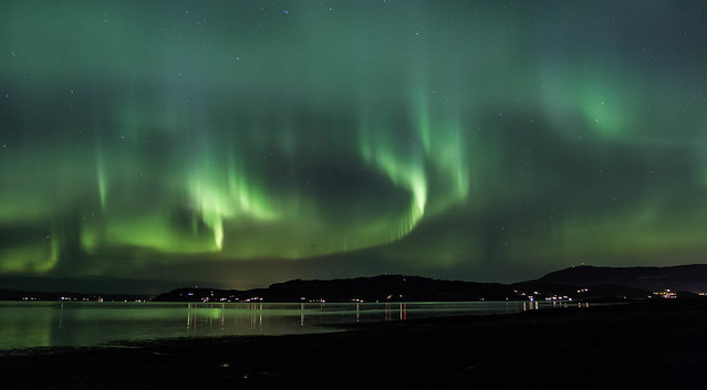 Aurora dancing in the sky