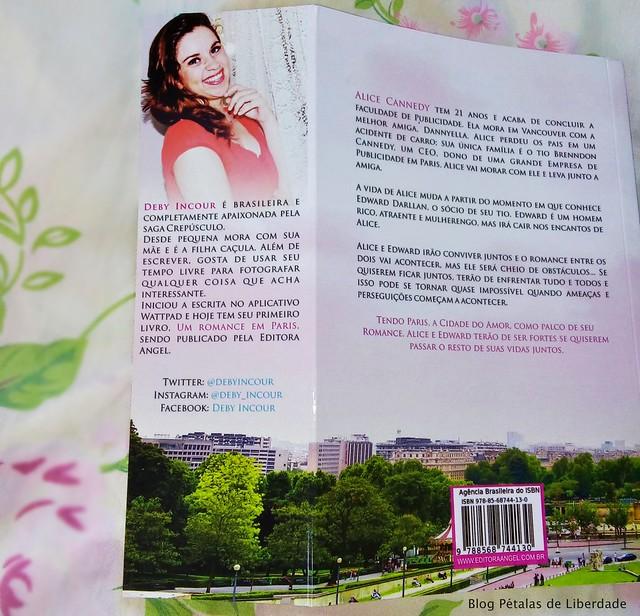 Resenha, livro, Um-romance-em-paris, Deby-Incour, Editora-Angel, romance, fotos, opiniao, critica, capa, trechos, sinopse