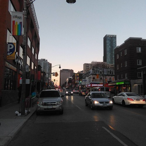 Looking north, Church towards Wellesley #toronto #churchandwellesley #churchstreet