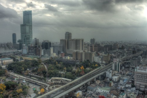 Views from 'TSUTENKAKU' tower on DEC 01, 2016 (3)