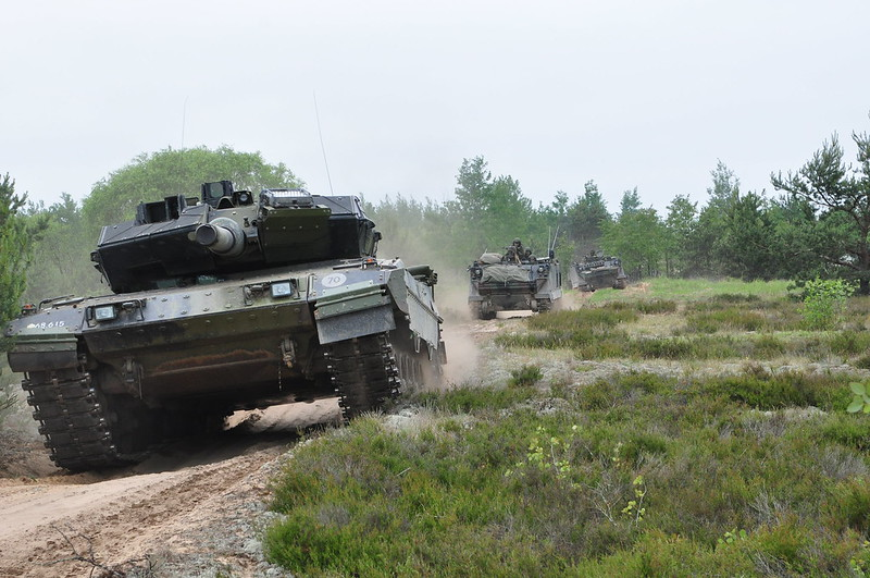 Danish tanks on the move