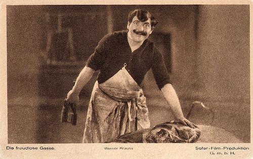 Werner Krauss in Die Freudlose Gasse (1925)
