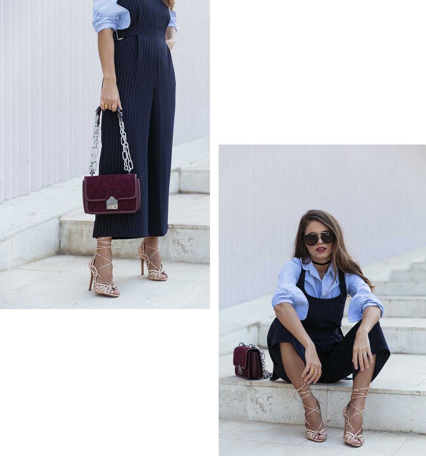 Jessie Chanes Seams for a desire - Pinstripped suit topshop heeled sandals schutz parfois bag  -10