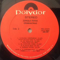 CHAKACHAS:JUNGLE FEVER(LABEL SIDE-B)