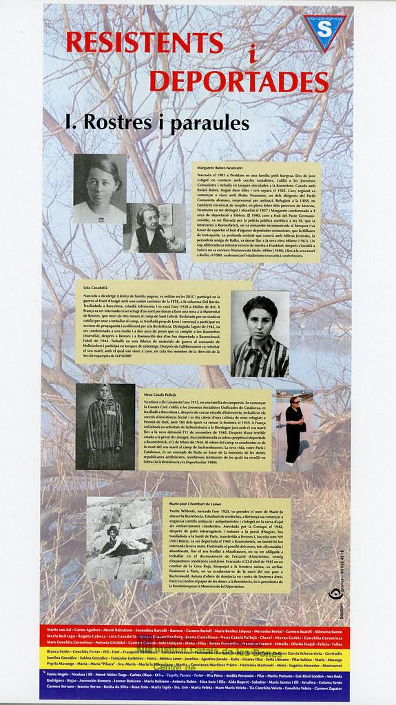 TORAN, Rosa. [Catàleg de l'exposició]. Resistents i deportades : rostres i paraules / textos de Rosa Toran. L'Associació Amical de Mauthausen, 2005.