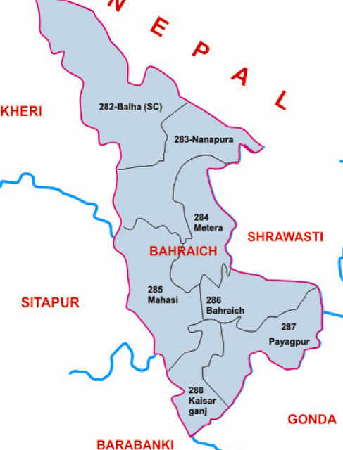 Bahraich  district Uttar Pradesh Election 2017