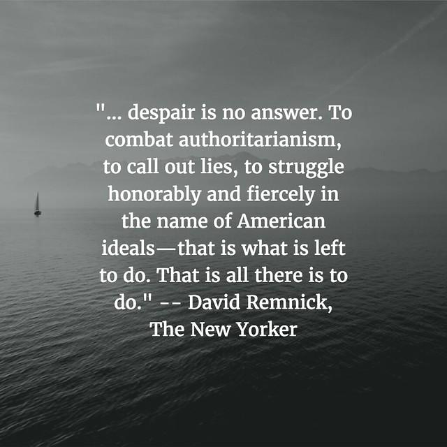 Don't Despare: David Remnick