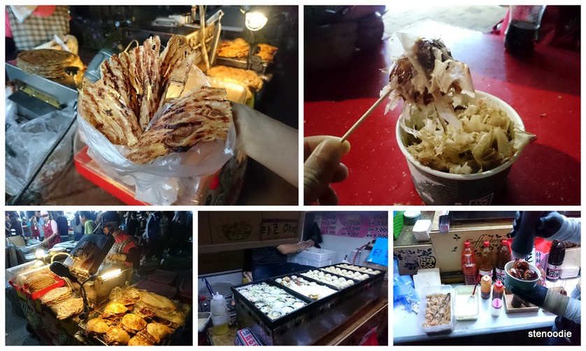 Dried squid and takoyaki