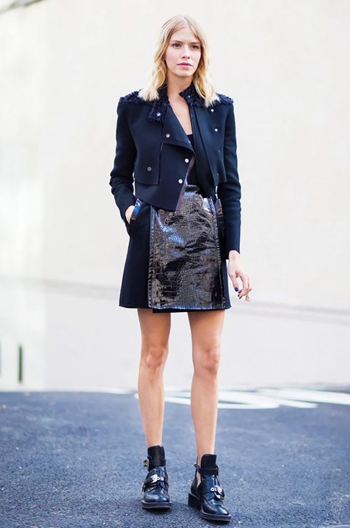 patent leather street style fashion outfit style5