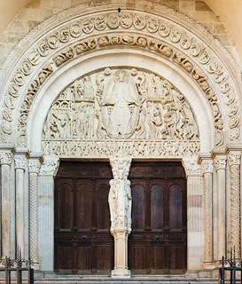 Tympanon des Weltgerichts, Meister Gislebertus, Cathédrale Saint-Lazare, Autun