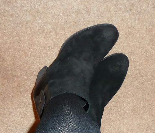 Clarks Bizzy Girl black suede ankle boots