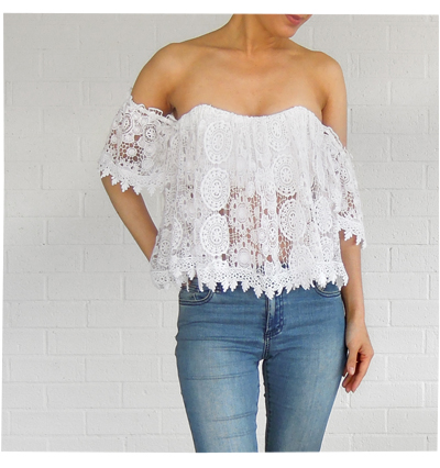 Lace Top by Tularosa x Revolve