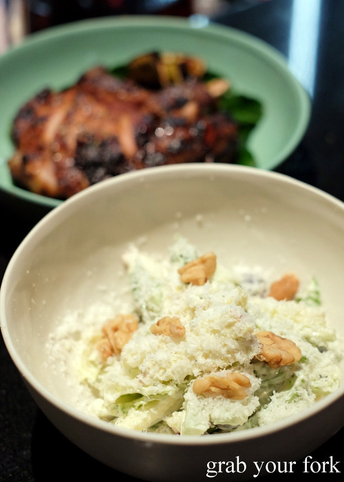 Waldorf salad with blue cheese and grape at Momofuku Seiobo at the Star in Sydney